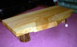 いちょう板ローテーブル